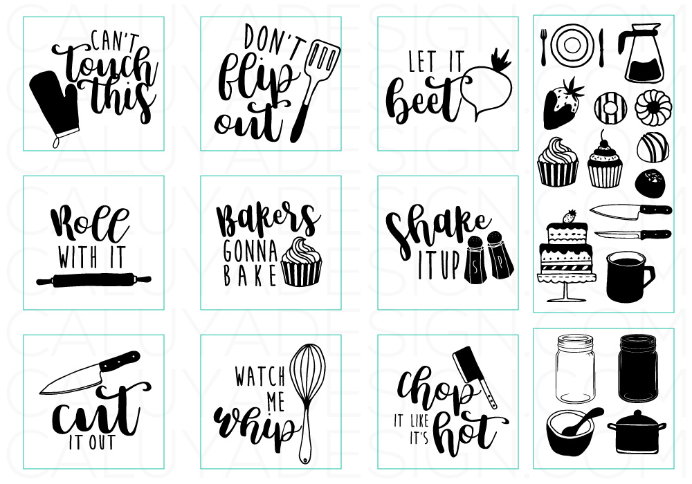 Happy Kitchen SVG Cut File Bundle example image 4
