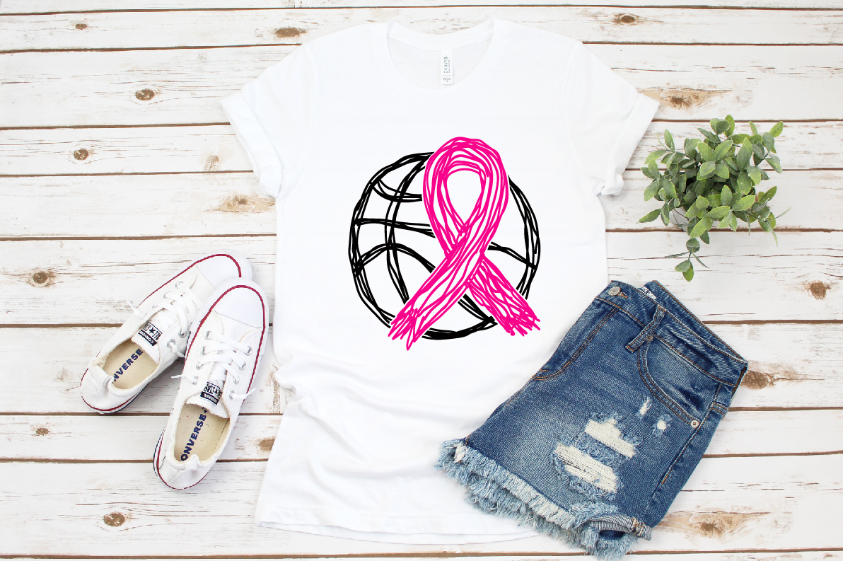 Go fight Cure Breast Cancer Cheer basketball 1565s example image 2