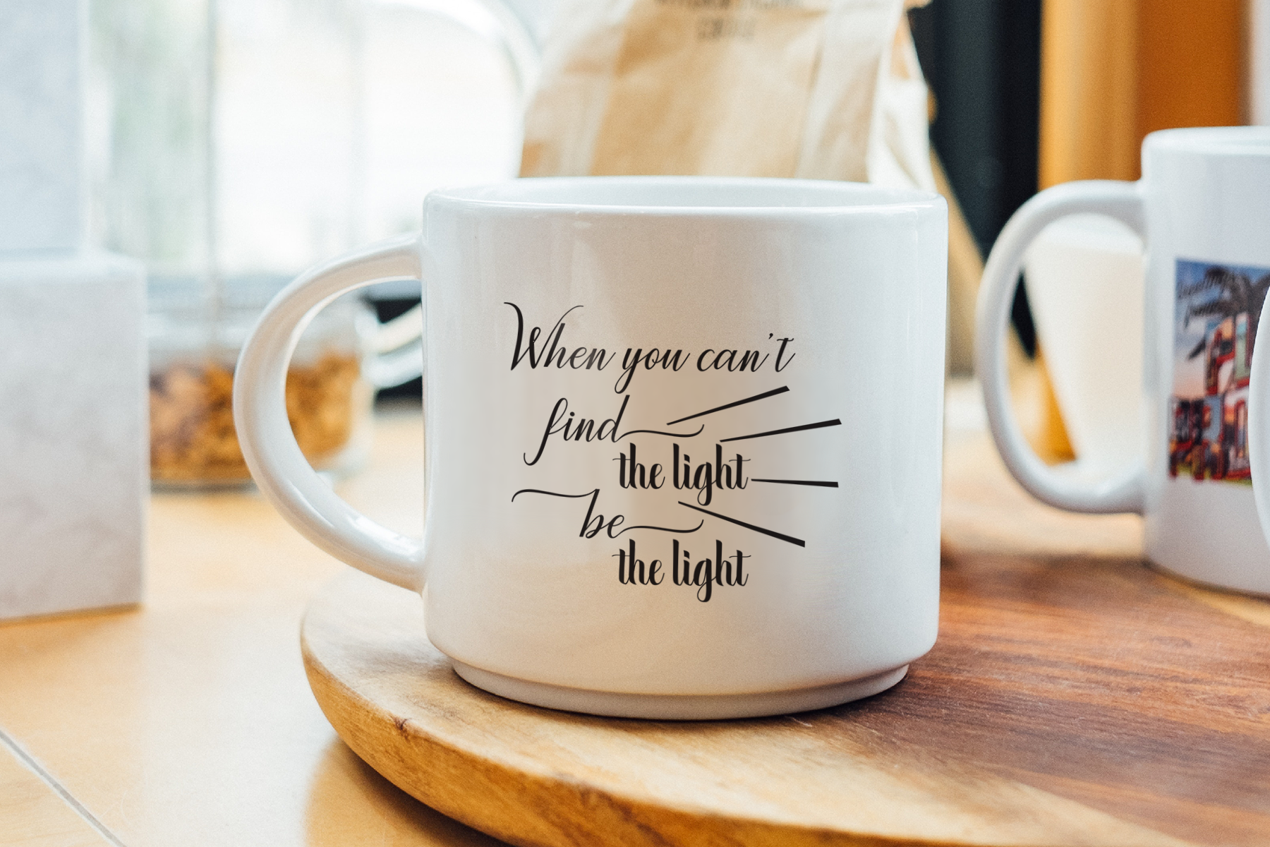 Find the light, be the light, A Motivational SVG Cut File example image 2