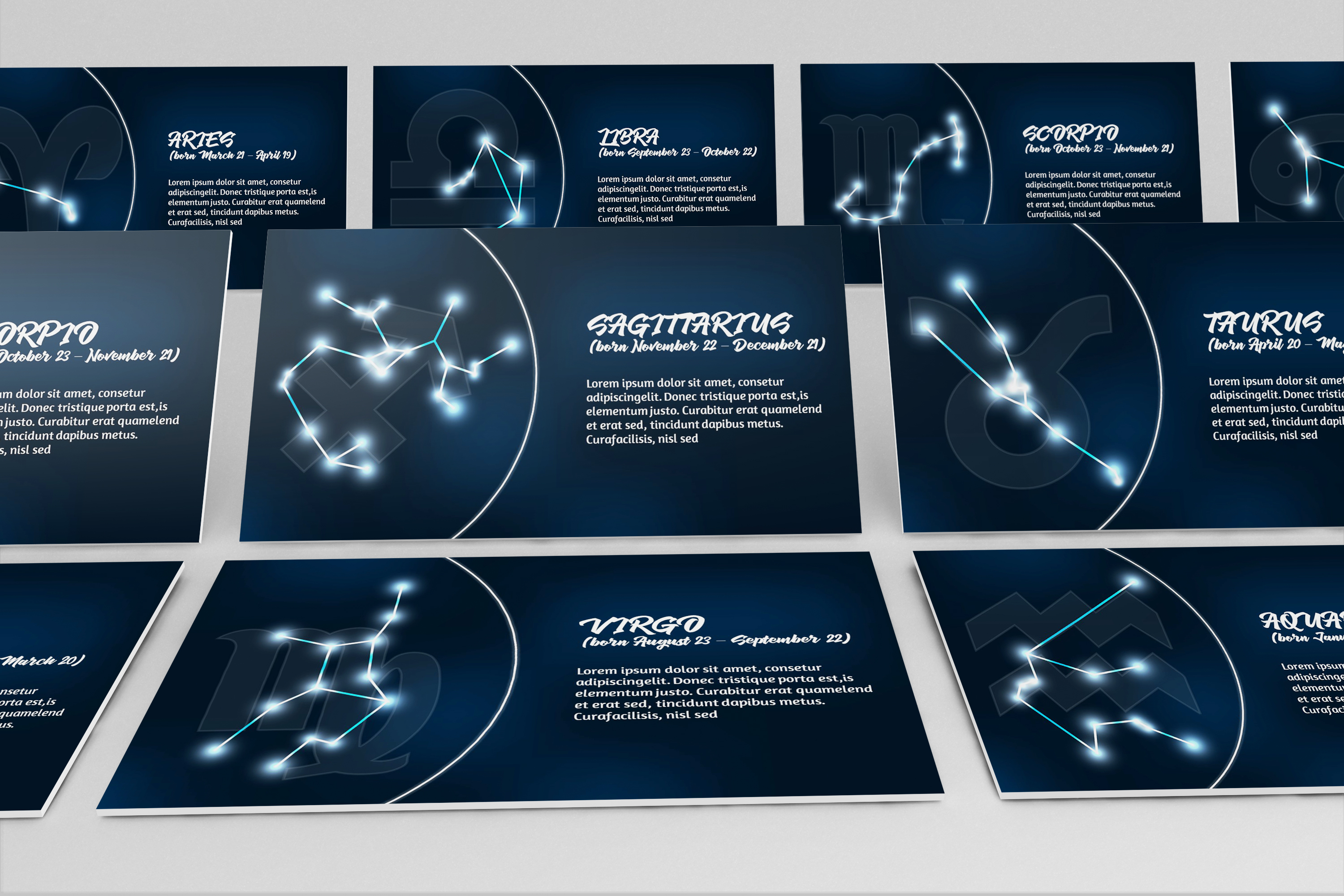 Zodiac Powerpoint Template Style 1 example image 1