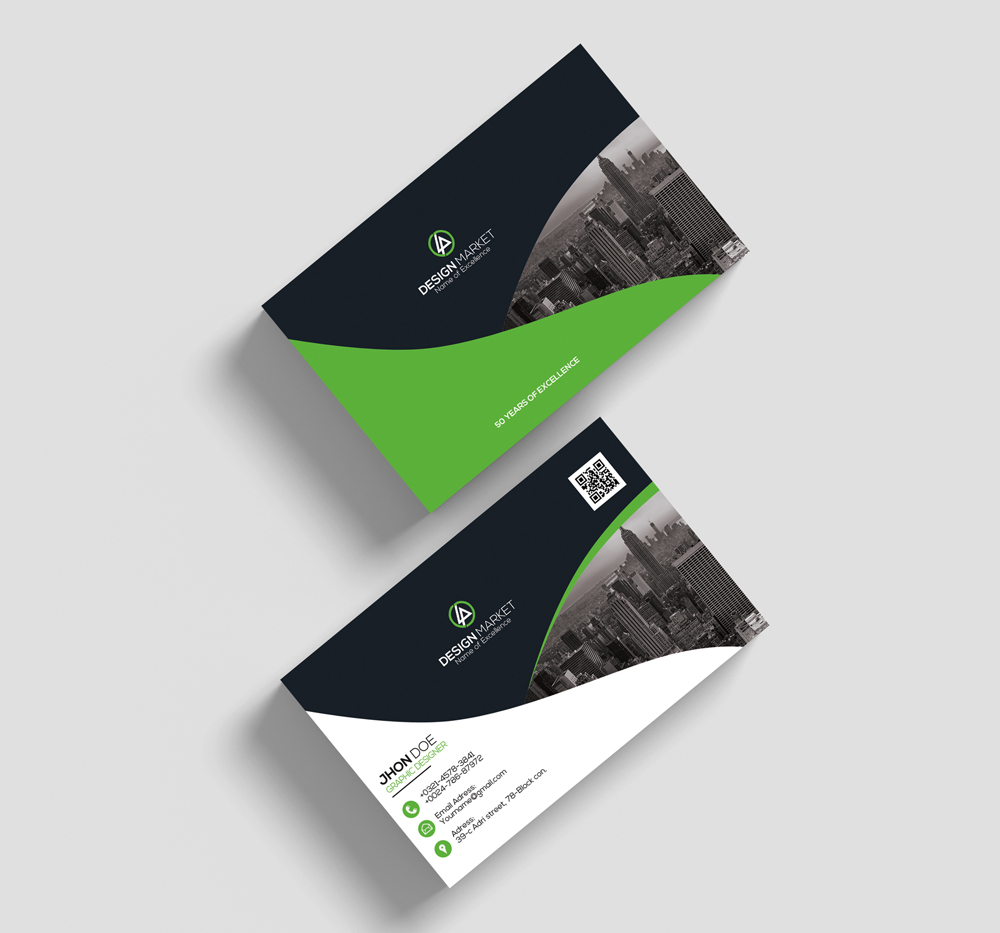 Horizontal Business Cards example image 2