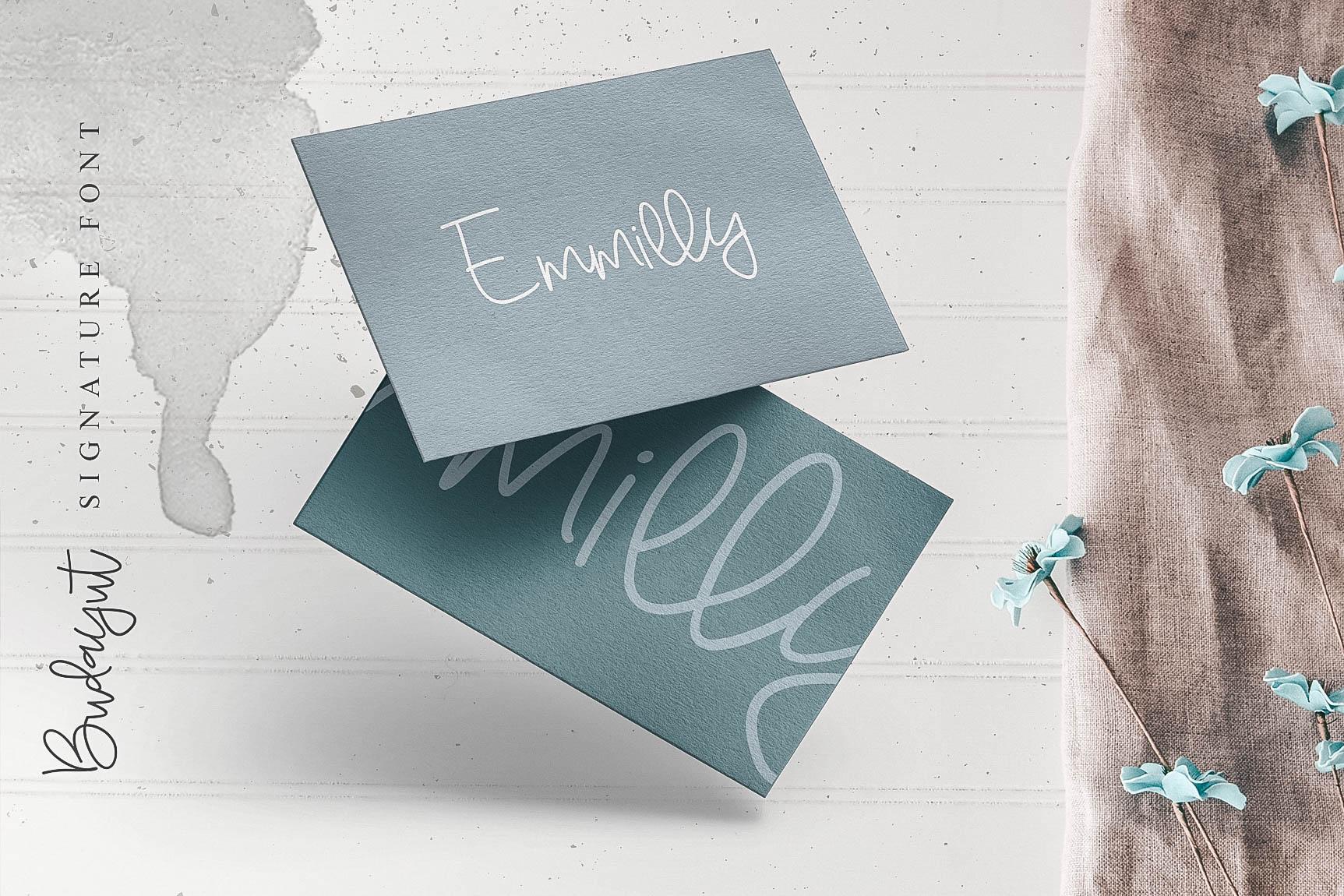 Budayut signature font example image 2