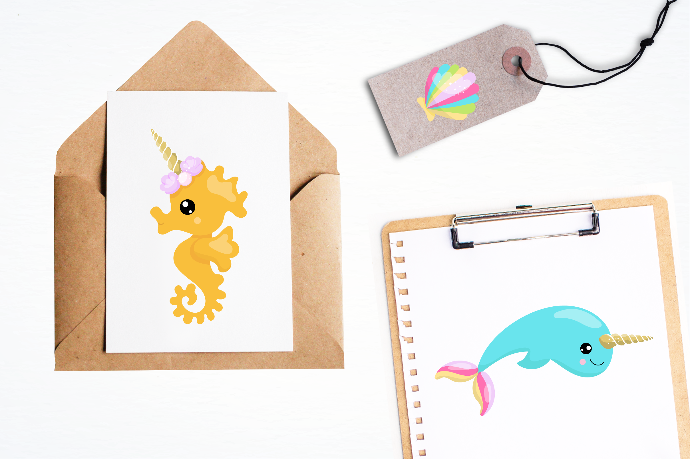 unicorn mermaid graphics and illustrations example image 5
