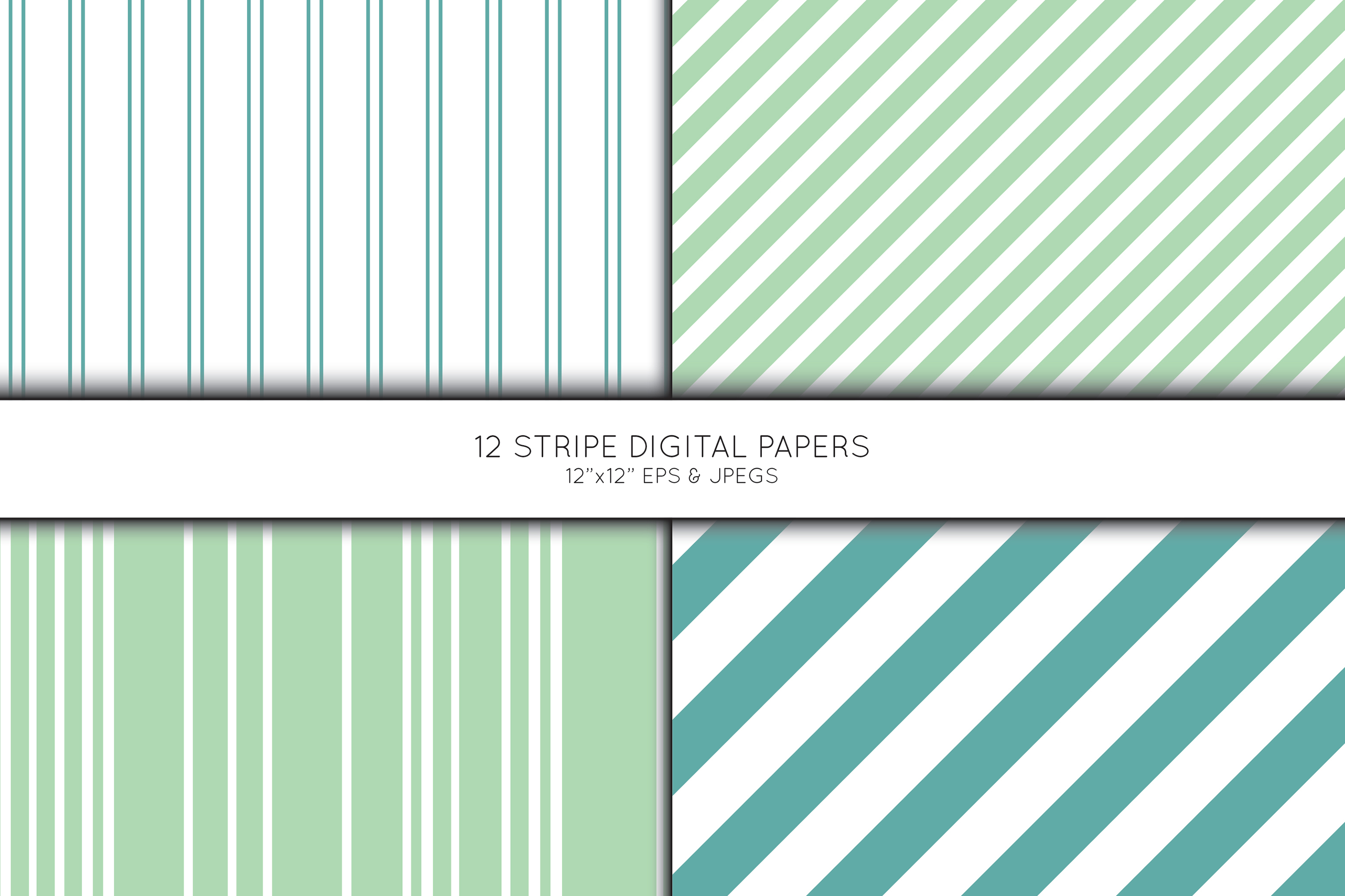 Stripe Digital Paper, Striped Scrapbook paper example image 3