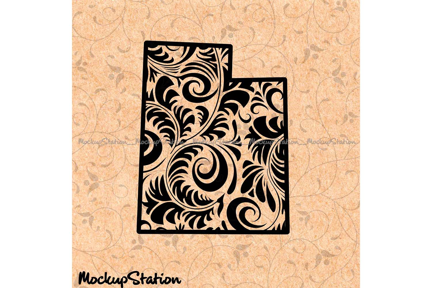 Utah Mandala SVG, UT Decor Floral Paisley PNG Cut File example image 1