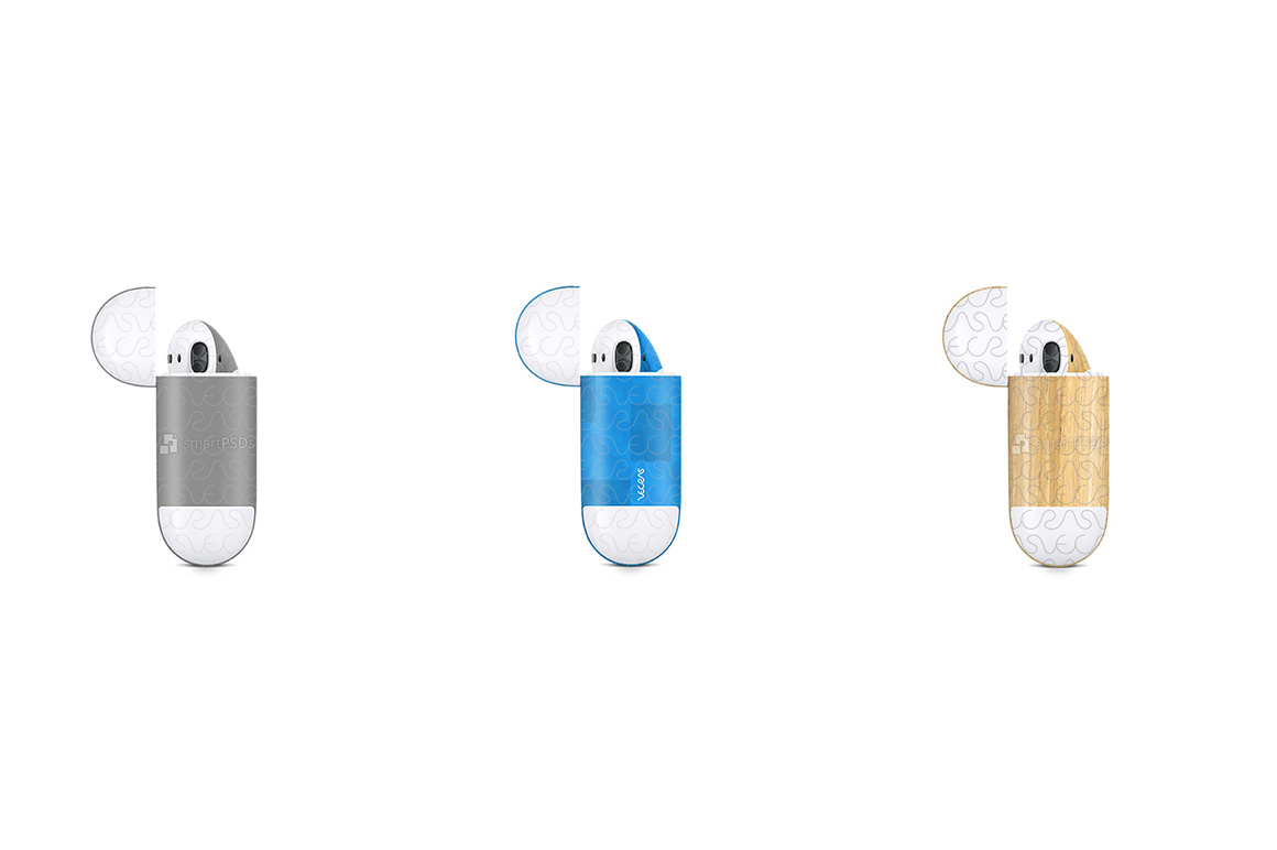 Apple AirPods Wireless Charging Case Vnyl Skin Design Mockup example image 5