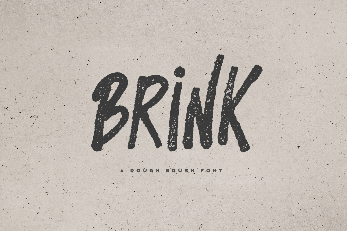 Brink - Brush Font example image 1