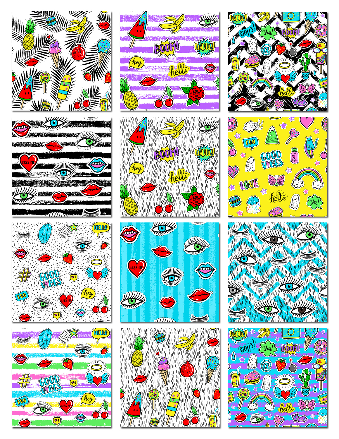 100 Funny patches 27 patterns example image 7