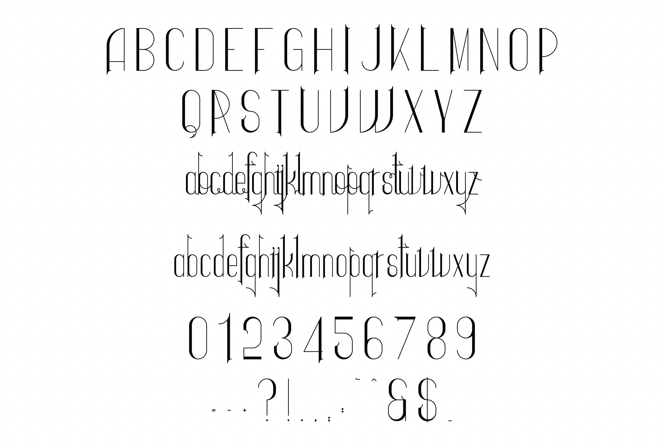 Ravenside-high end trio font example image 15