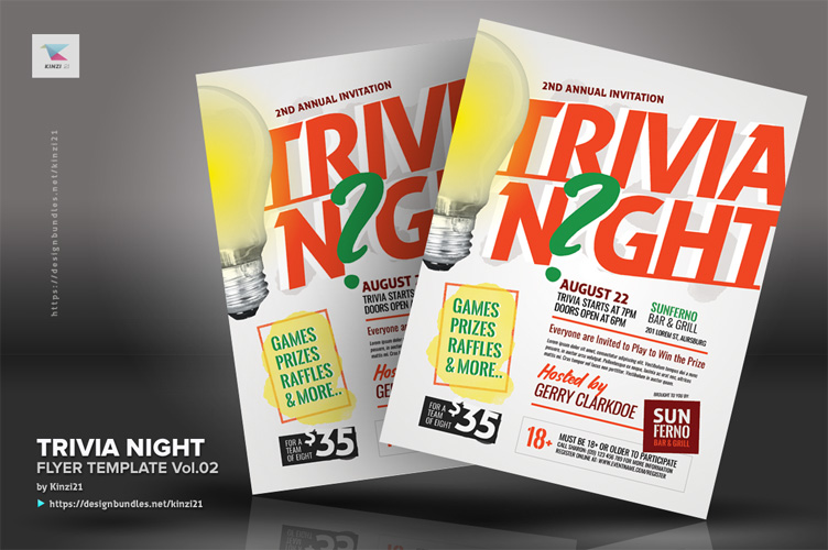 Trivia Night Flyer Template vol.02 example image 2