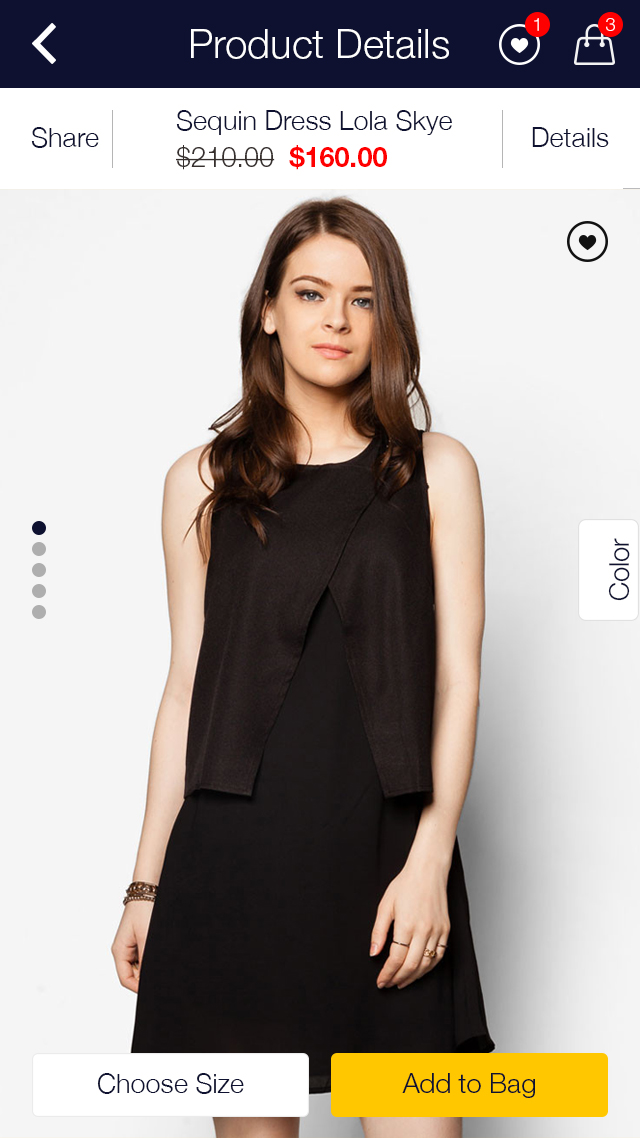 Zalora Shopping UI for e-commerce example image 10