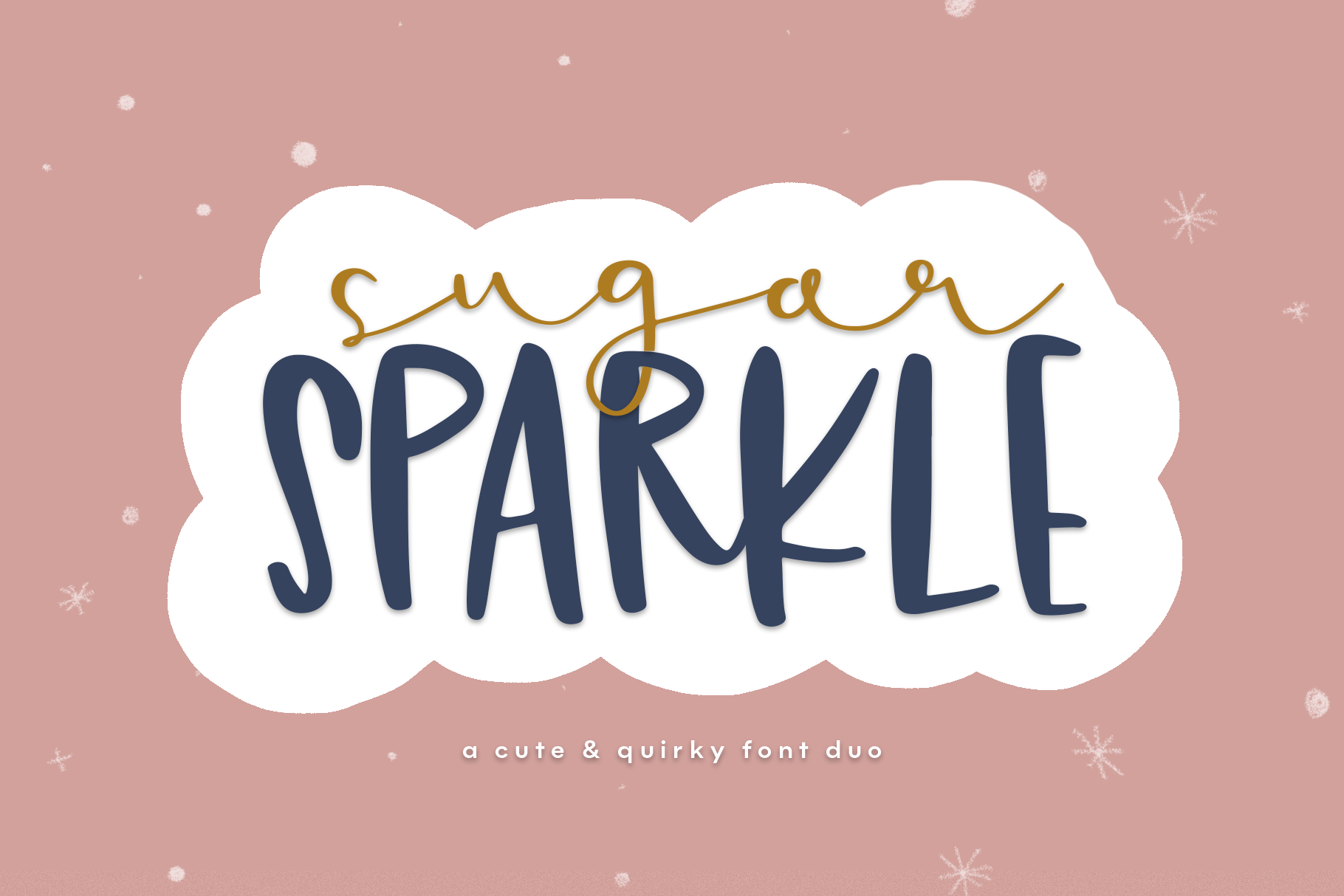 Sugar Sparkle - A Handwritten Font Duo example image 1