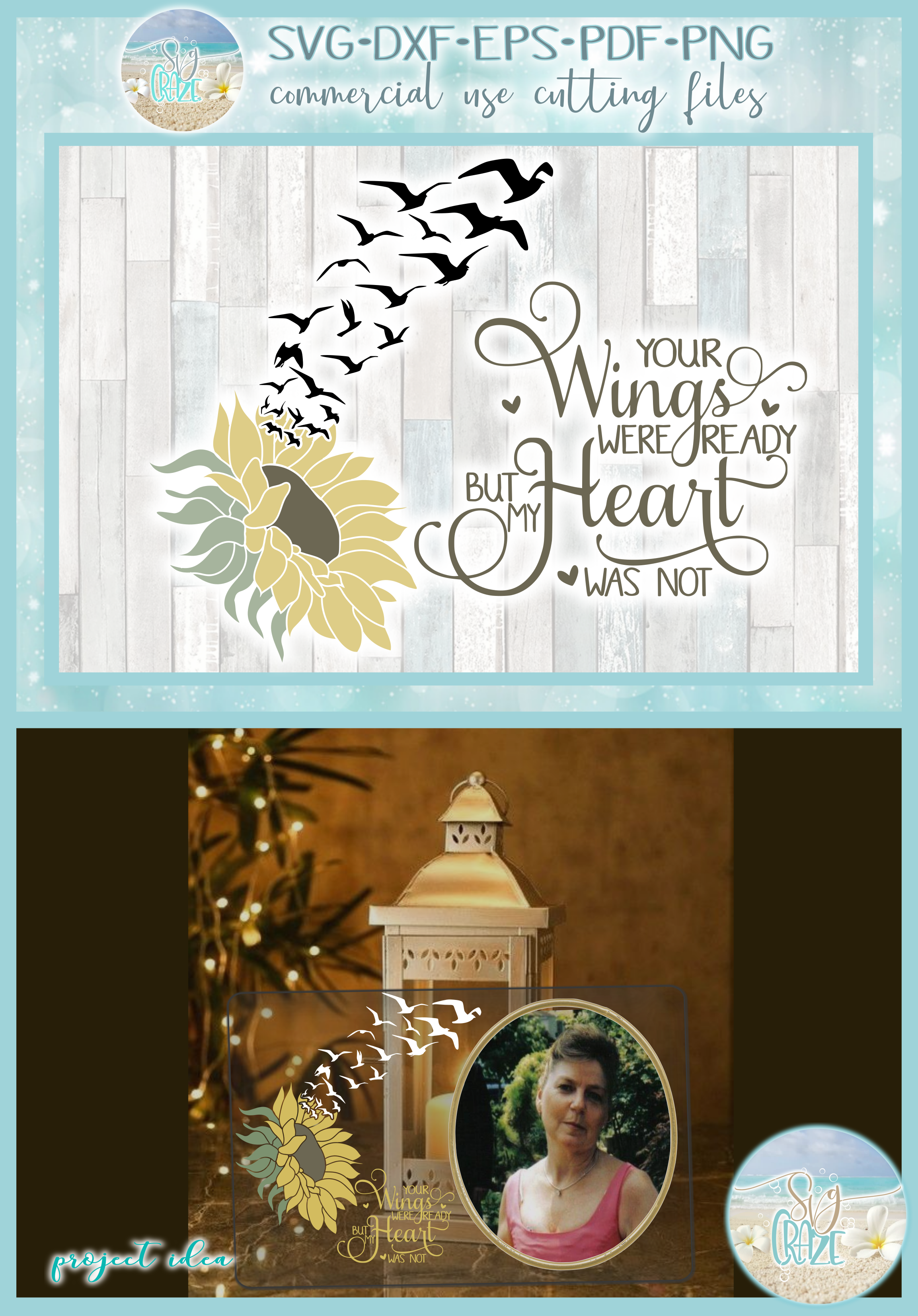 Your Wings Were Ready But My Heart Was Not Sunflower SVG example image 4