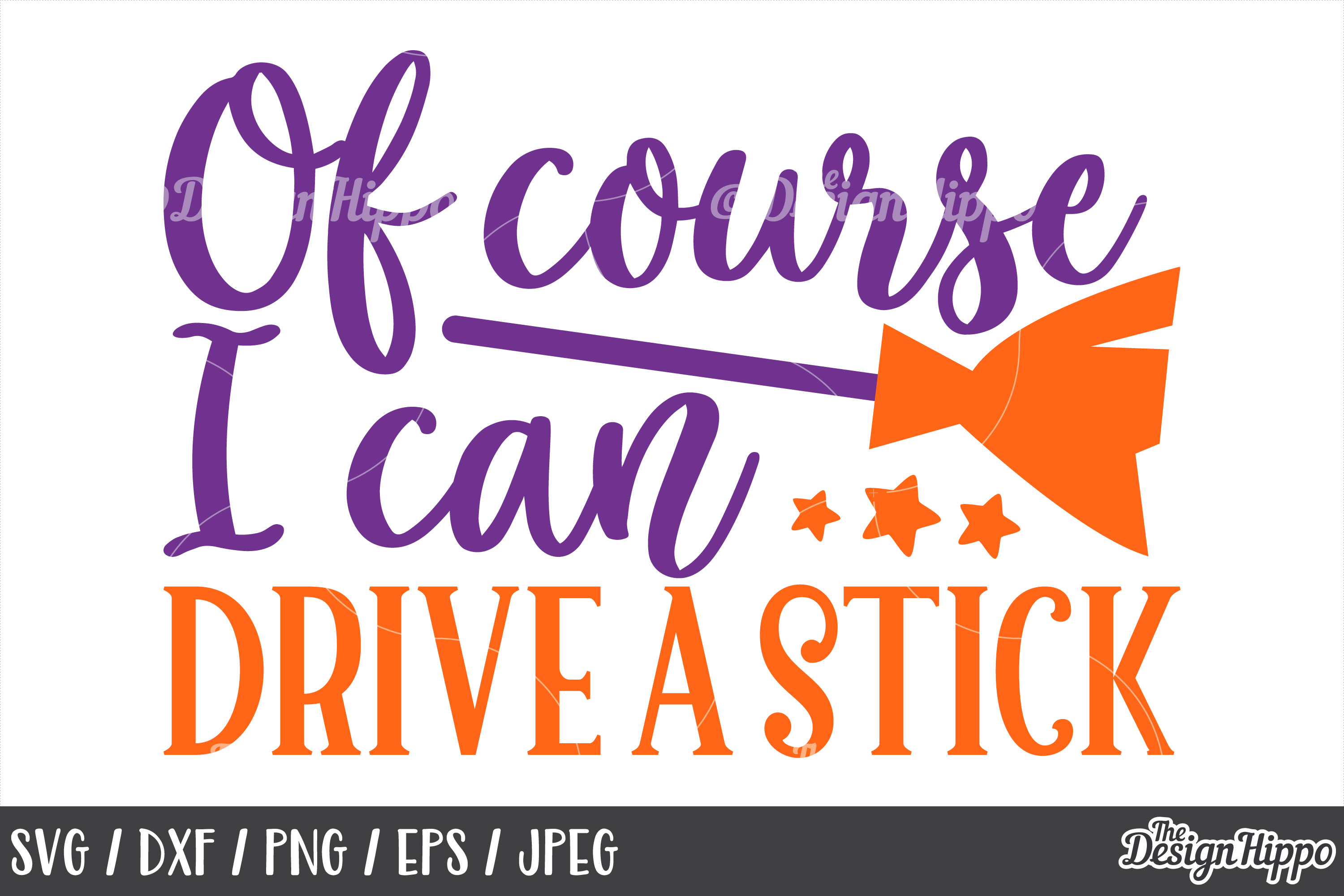 I can drive a stick, SVG, Halloween, Sayings, Witch SVG, PNG example image 1
