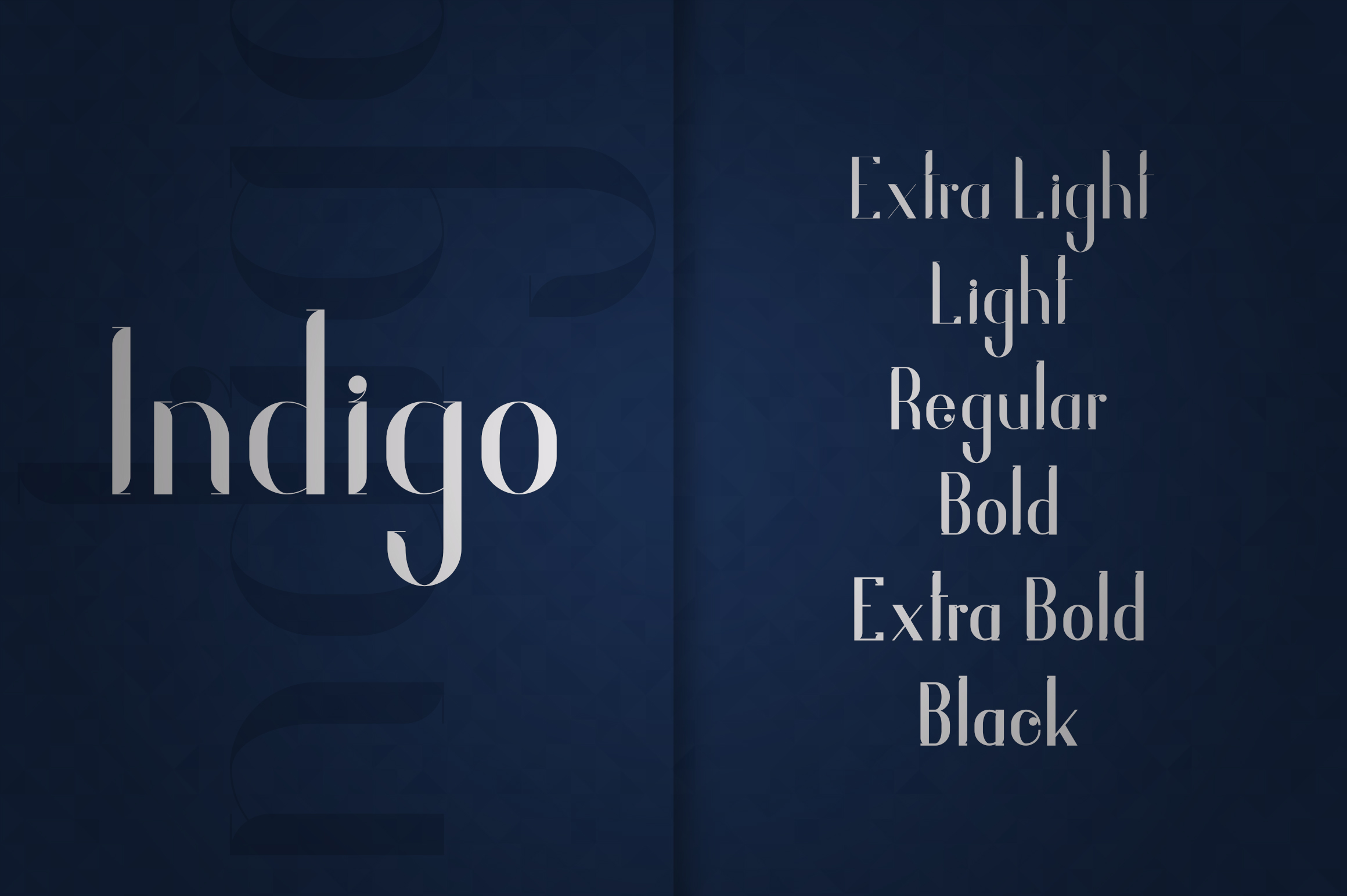 Indigo Typeface - 6 Weights example image 2