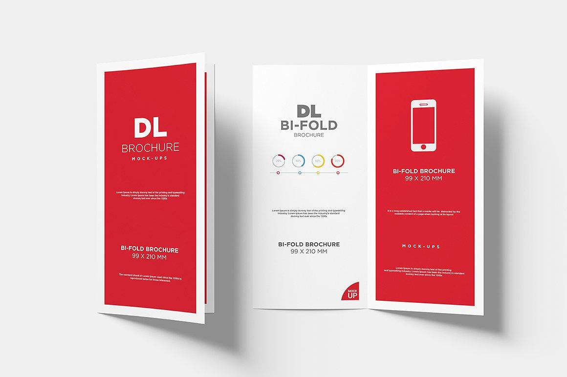 DL Bi-fold Brochure Mock-Up example image 10