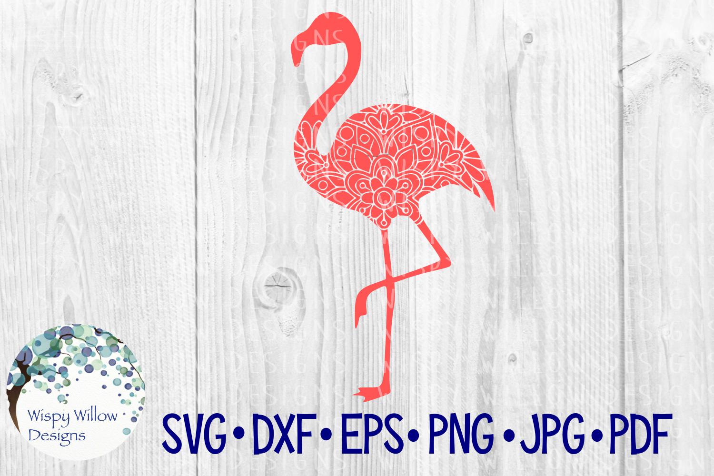Flamingo Mandala, Animal Mandala SVG Cut File example image 2