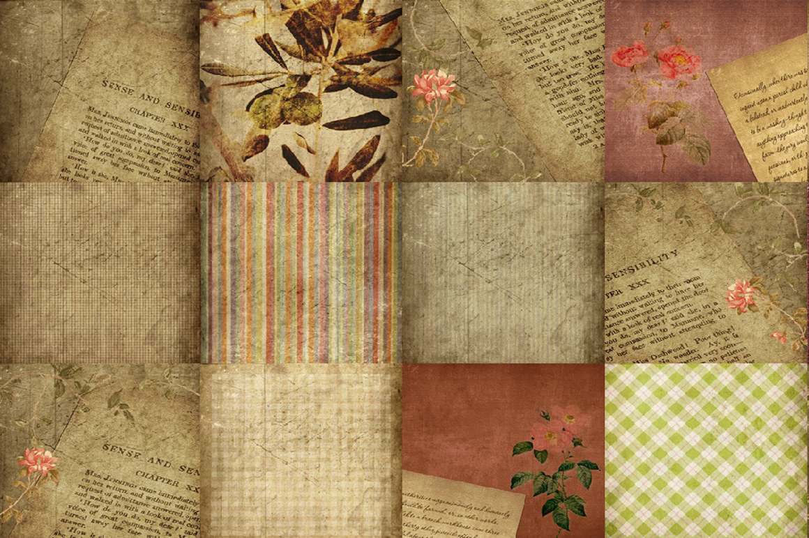60 Romantic Vintage Background Papers example image 5