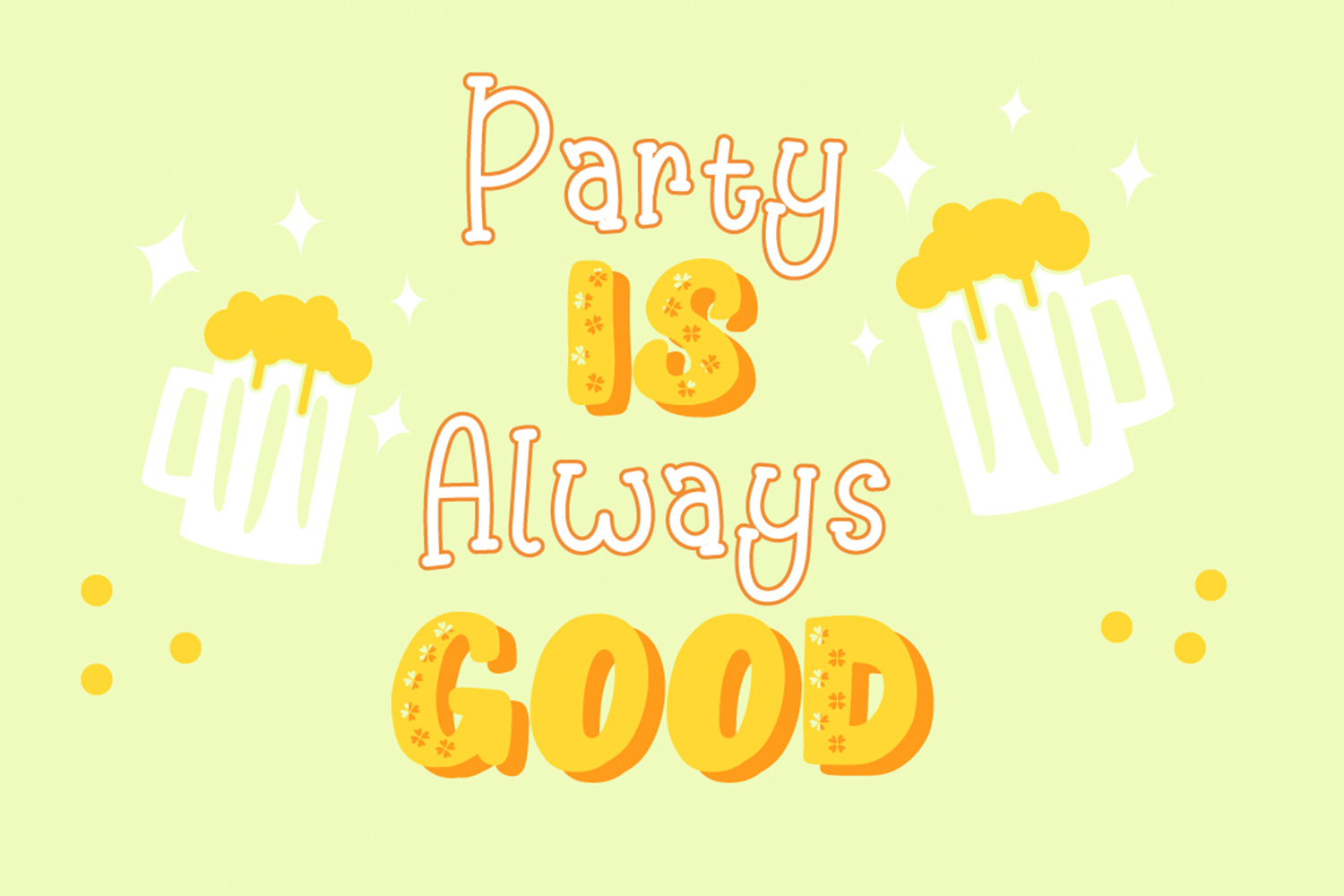 Happy Clover Font Duo example image 3