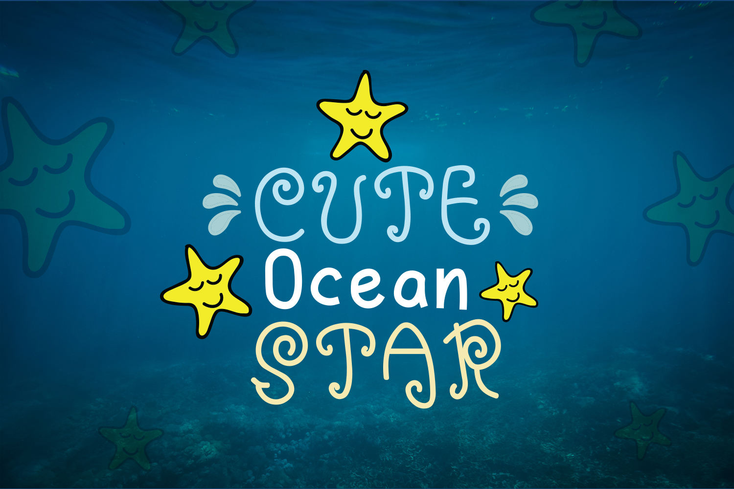 Blue Ocean - Cute and Funny Font example image 3
