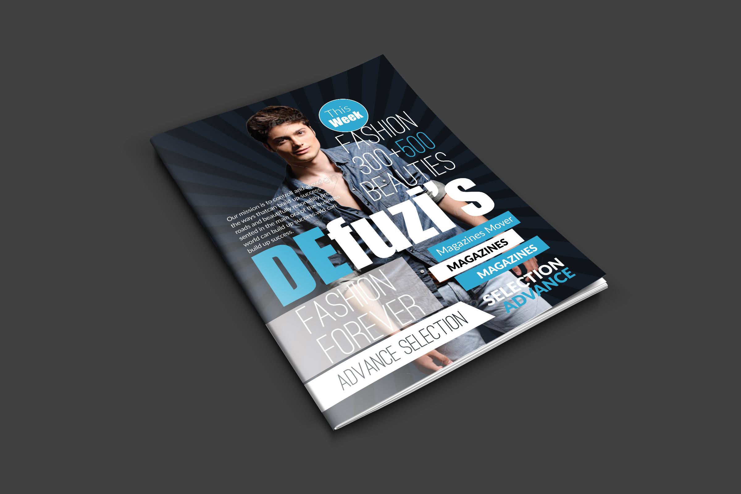 Fashion Magazine Cover Templates example image 2