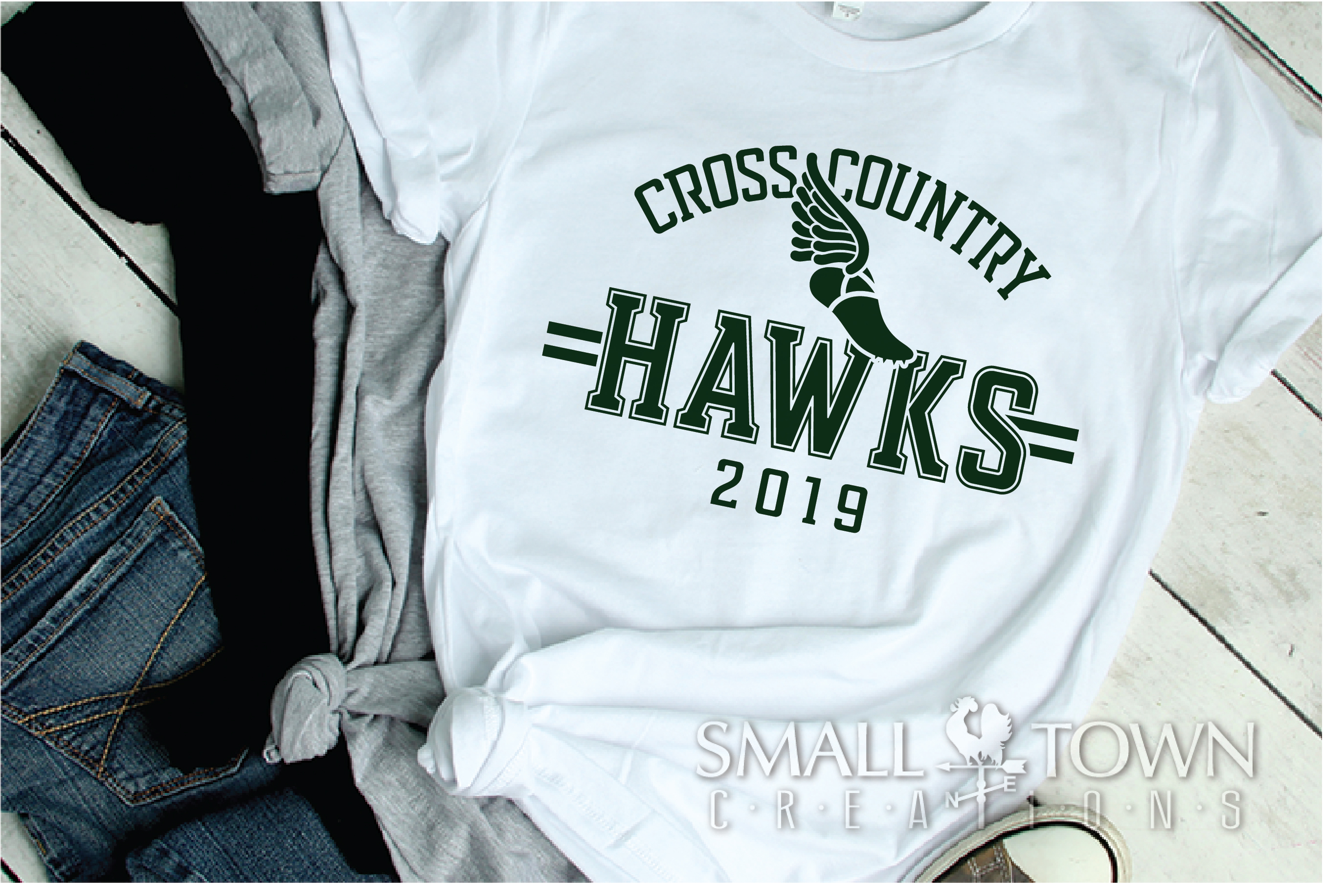 Hawks Cross Country Team, Hawk Mascot, PRINT, CUT & DESIGN example image 2