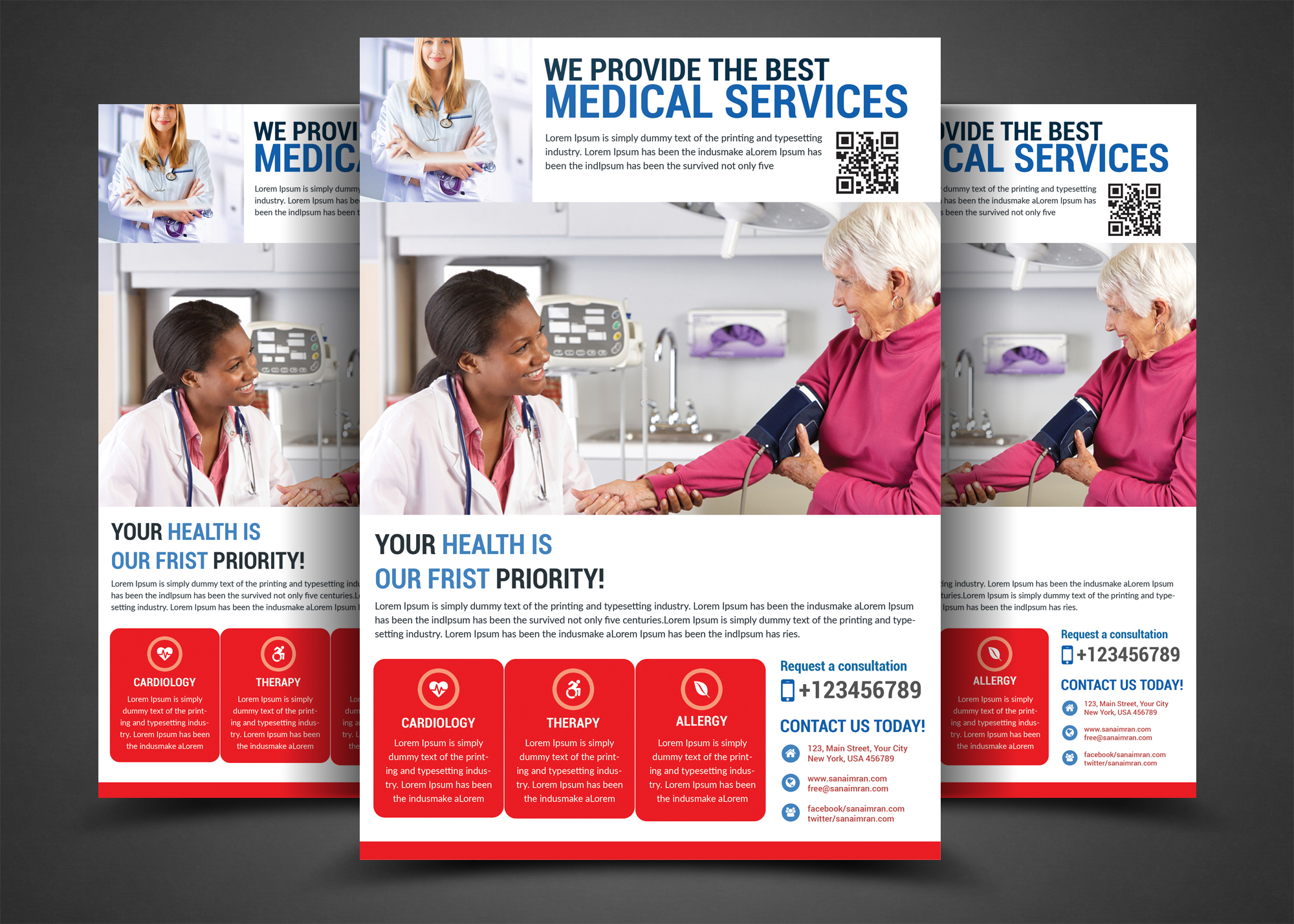 Medical Services Flyer Template example image 1