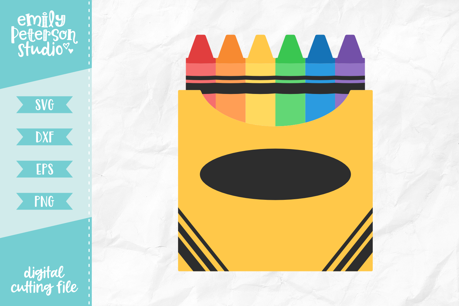 Box of Crayons SVG DXF EPS PNG example image 1