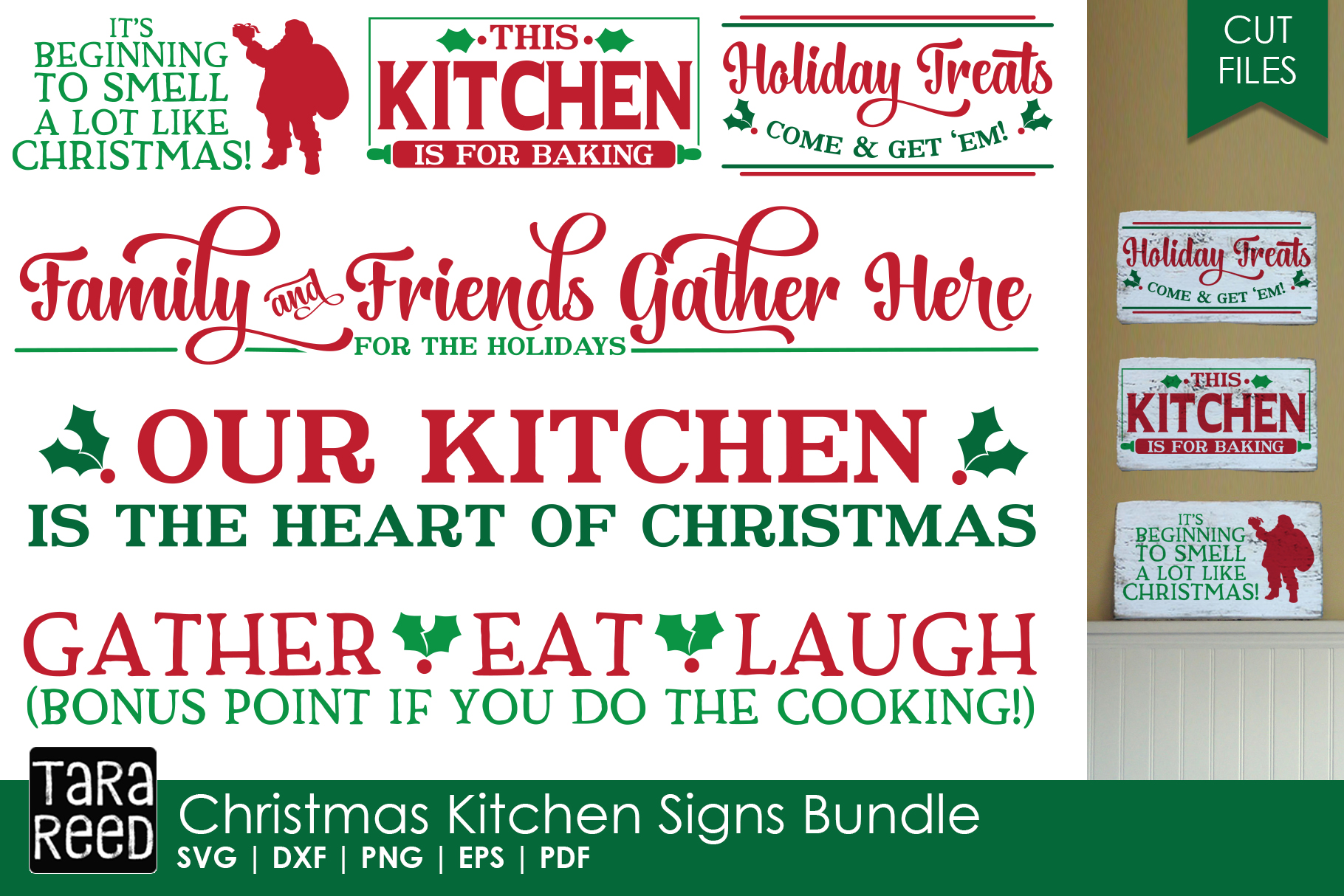 Christmas in the Kitchen MEGA Bundle - Crafter SVG Files example image 2