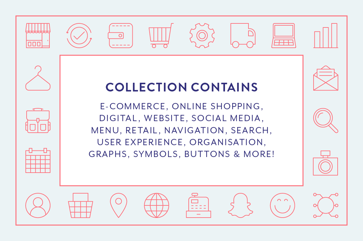Line Icons - E-Commerce example image 6