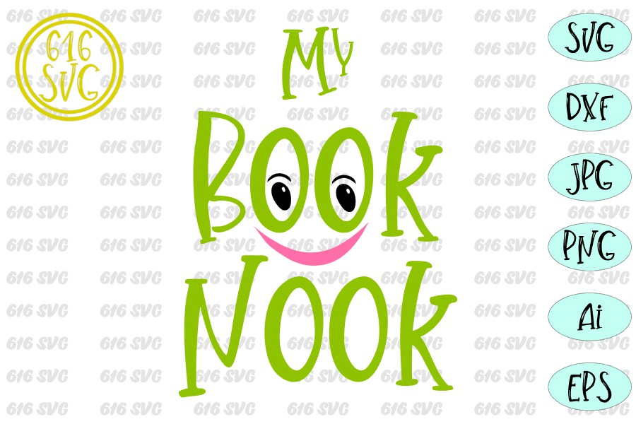 My Book Nook SVG, DXF, Ai, PNG example image 3