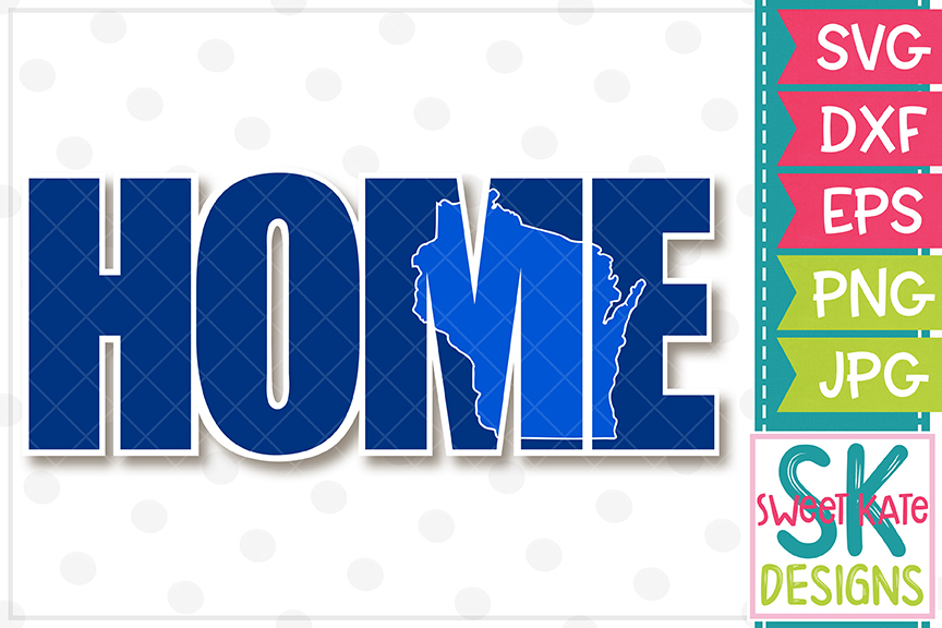 Home with Knockout Wisconsin SVG DXF EPS PNG JPG example image 2