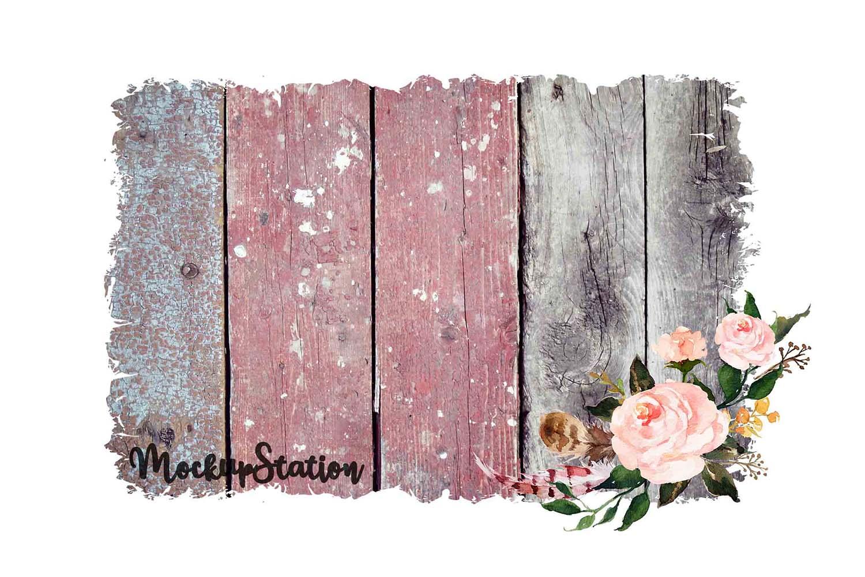 Sublimation Wood Background PNG Bundle, Frame Clip Art example image 5