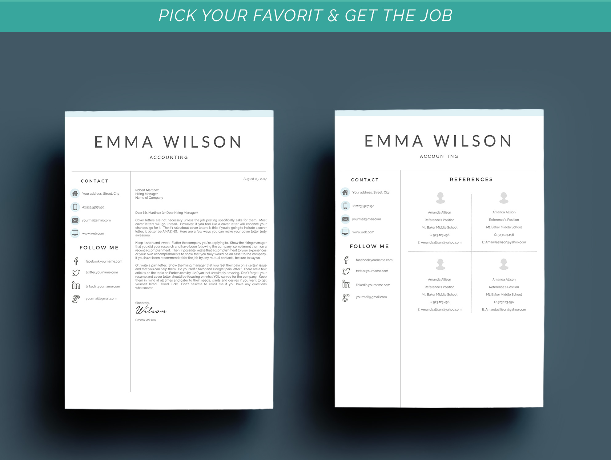Resume Template 3 Pages example image 8