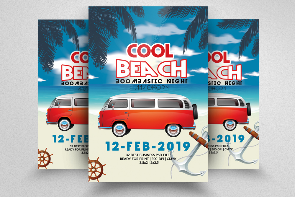 10 Summer Beach Party Flyers Bundle example image 8