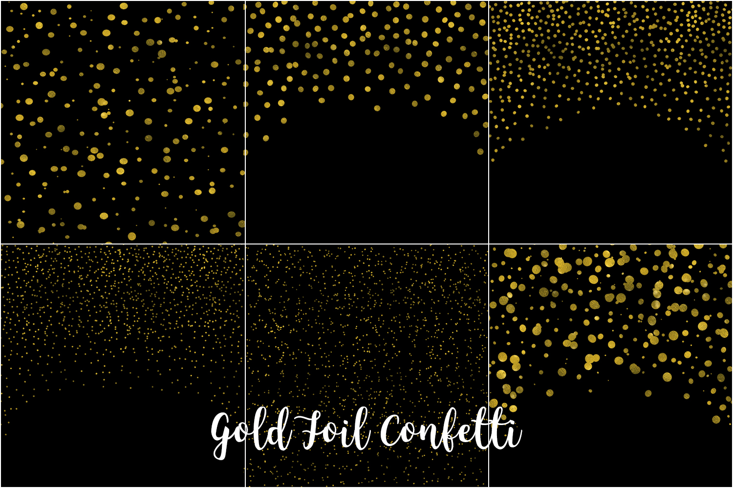 Gold Foil Confetti, Transparent PNG example image 4