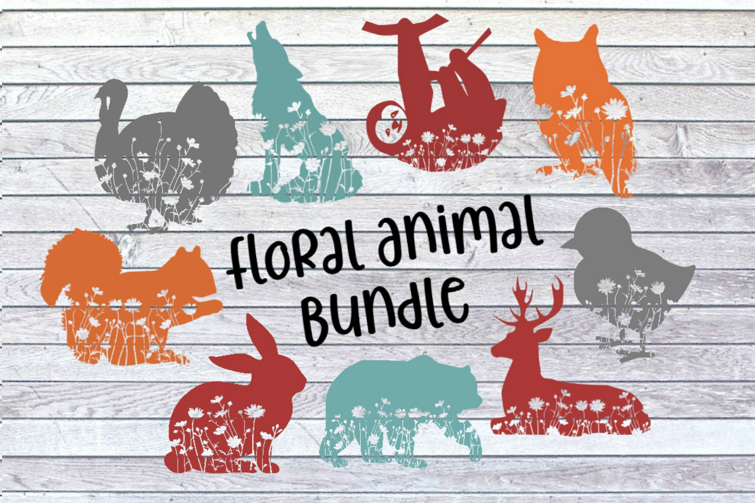 Floral Bunny Mandala Forest Zentangle Flower SVG/DXF/PNG example image 2