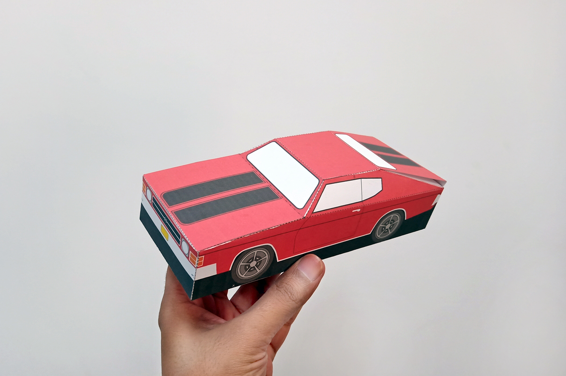 DIY Chevelle Car favor - 3d papercraft example image 7