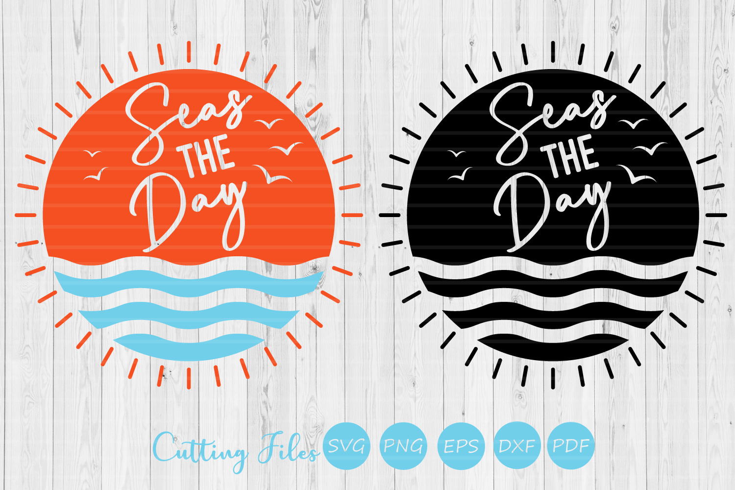 Seas the day| SVG Cut file | Summer |cricut | example image 1