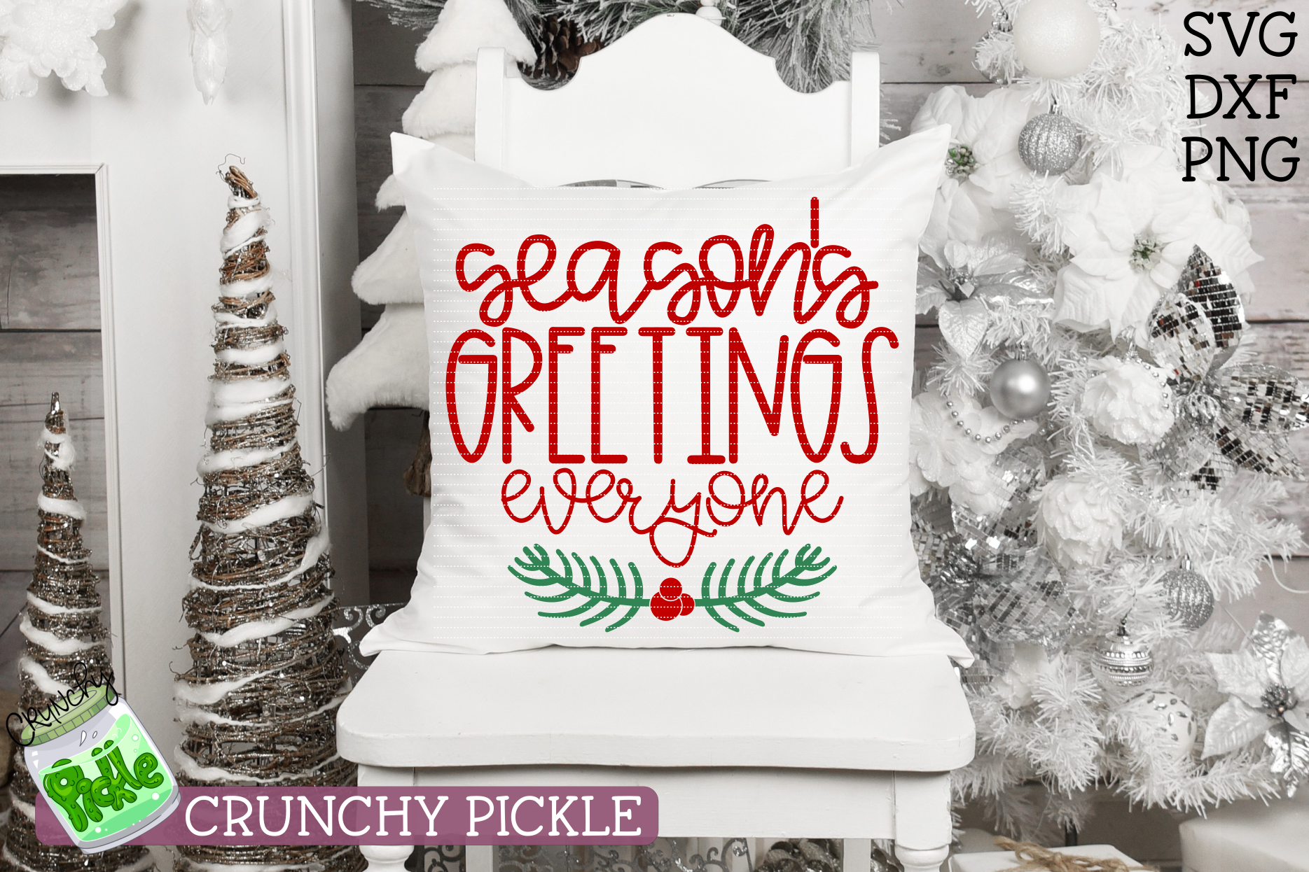 Season's Greetings Everyone SVG example image 1