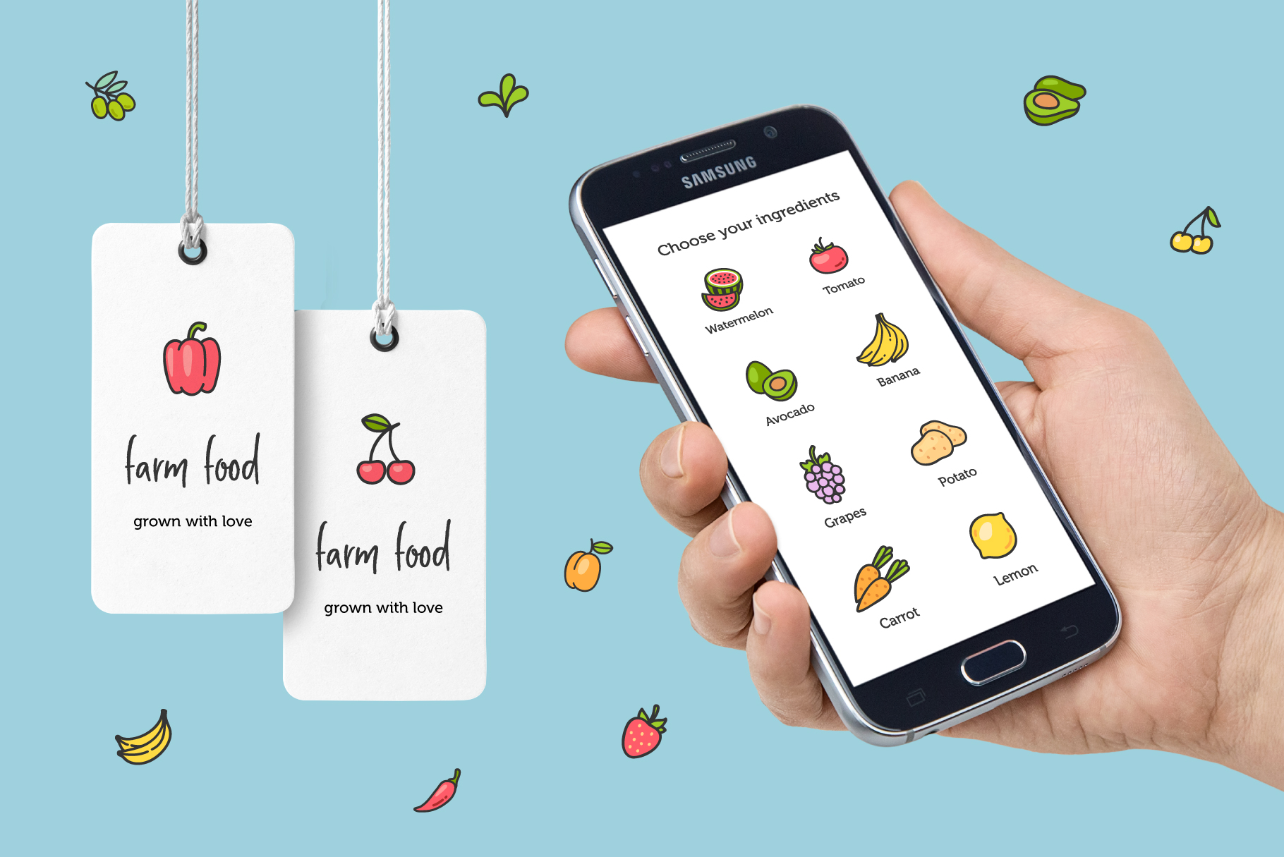 Fruits&Vegetables Icon Set example image 5