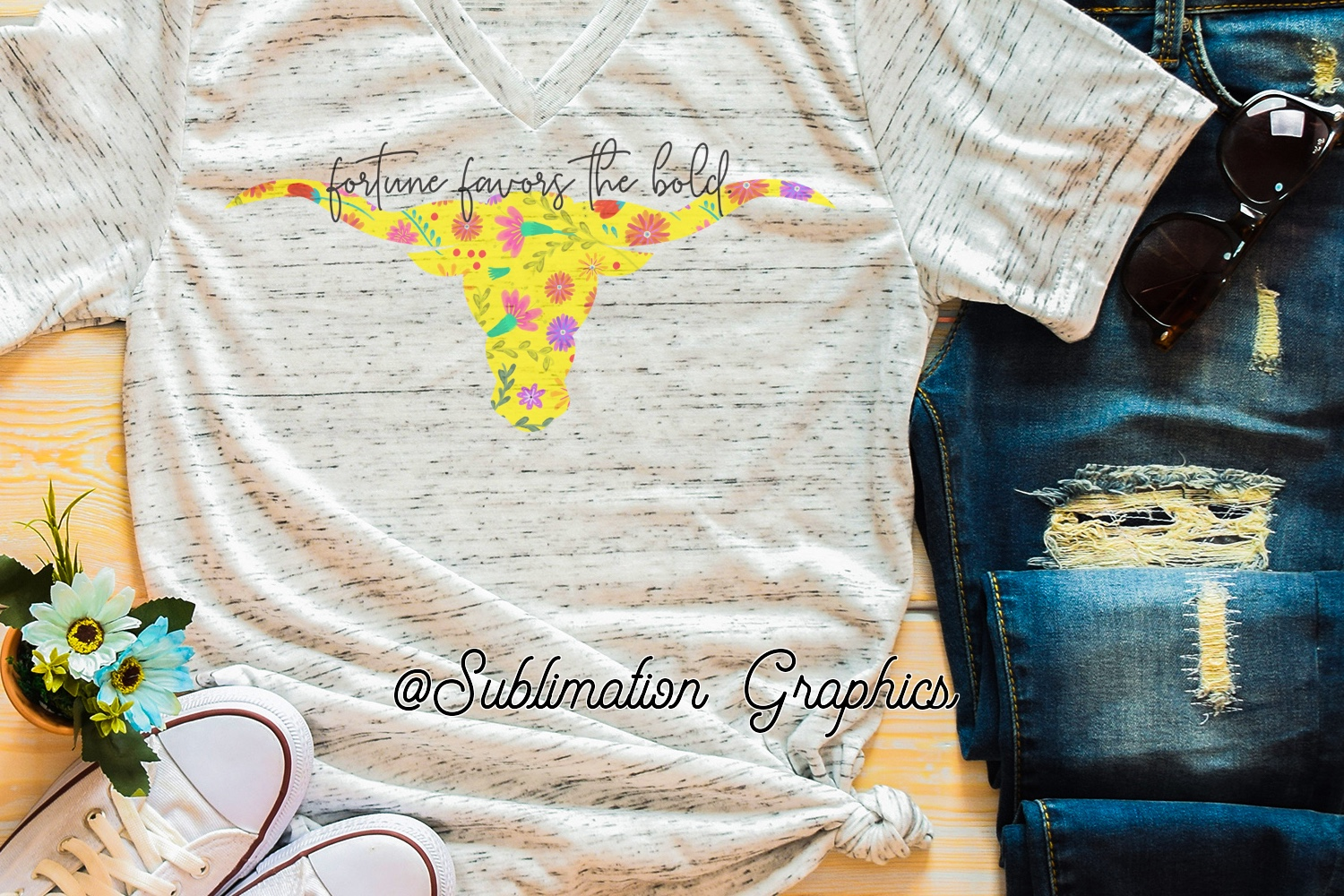 Fortune Favors The Bold Sublimation Digital Download example image 1