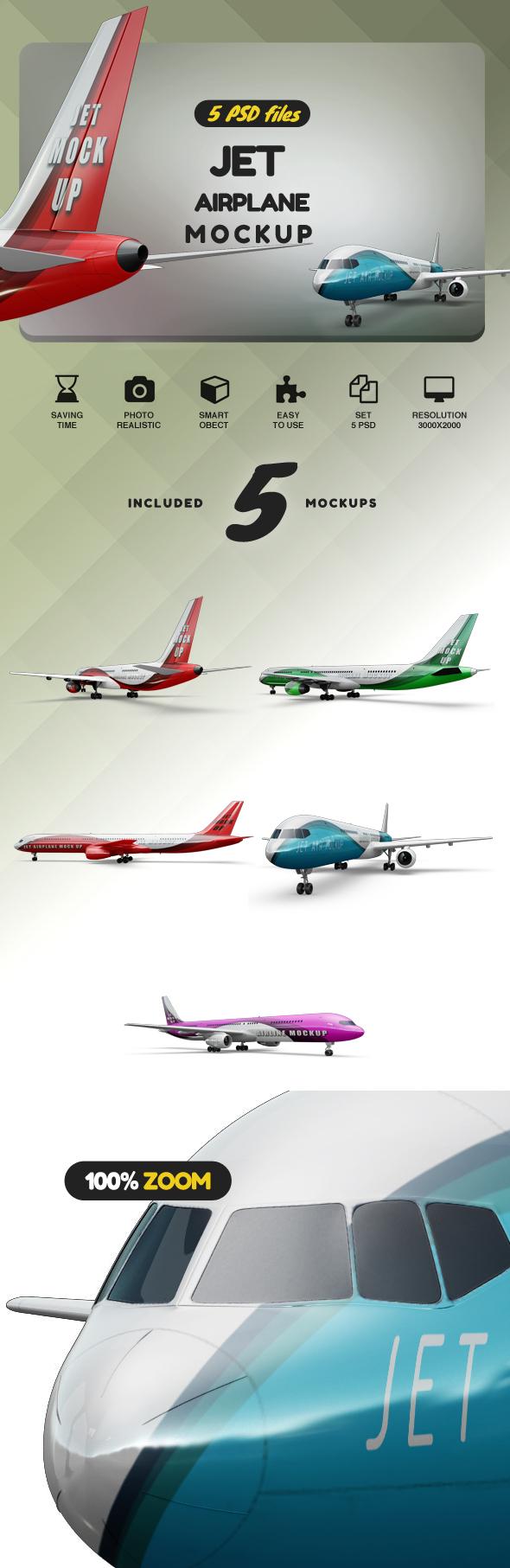 Jet Airplane Mockup example image 2