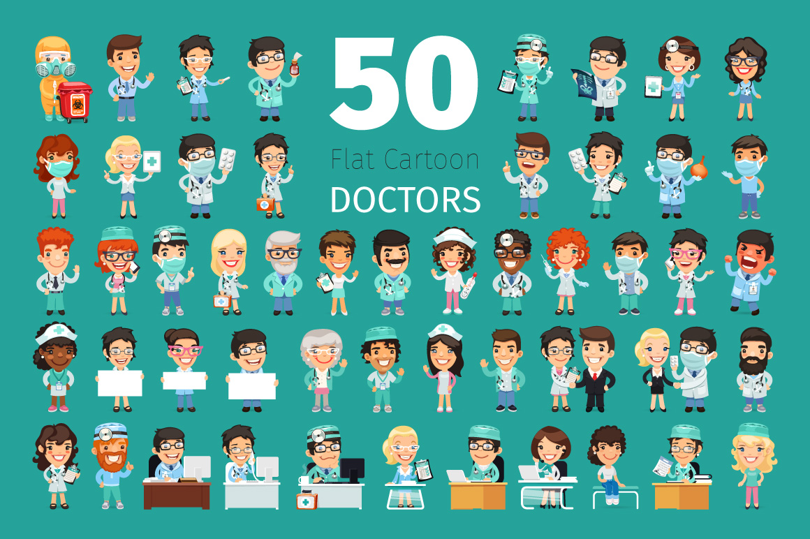 Cartoon Doctors Big Collection example image 1