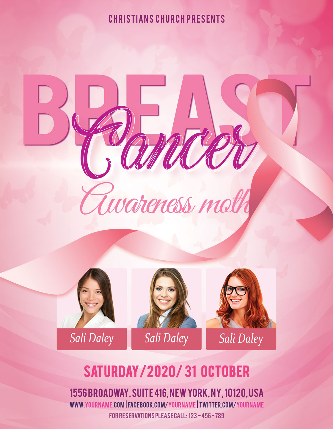 Breast Cancer Flyer example image 3