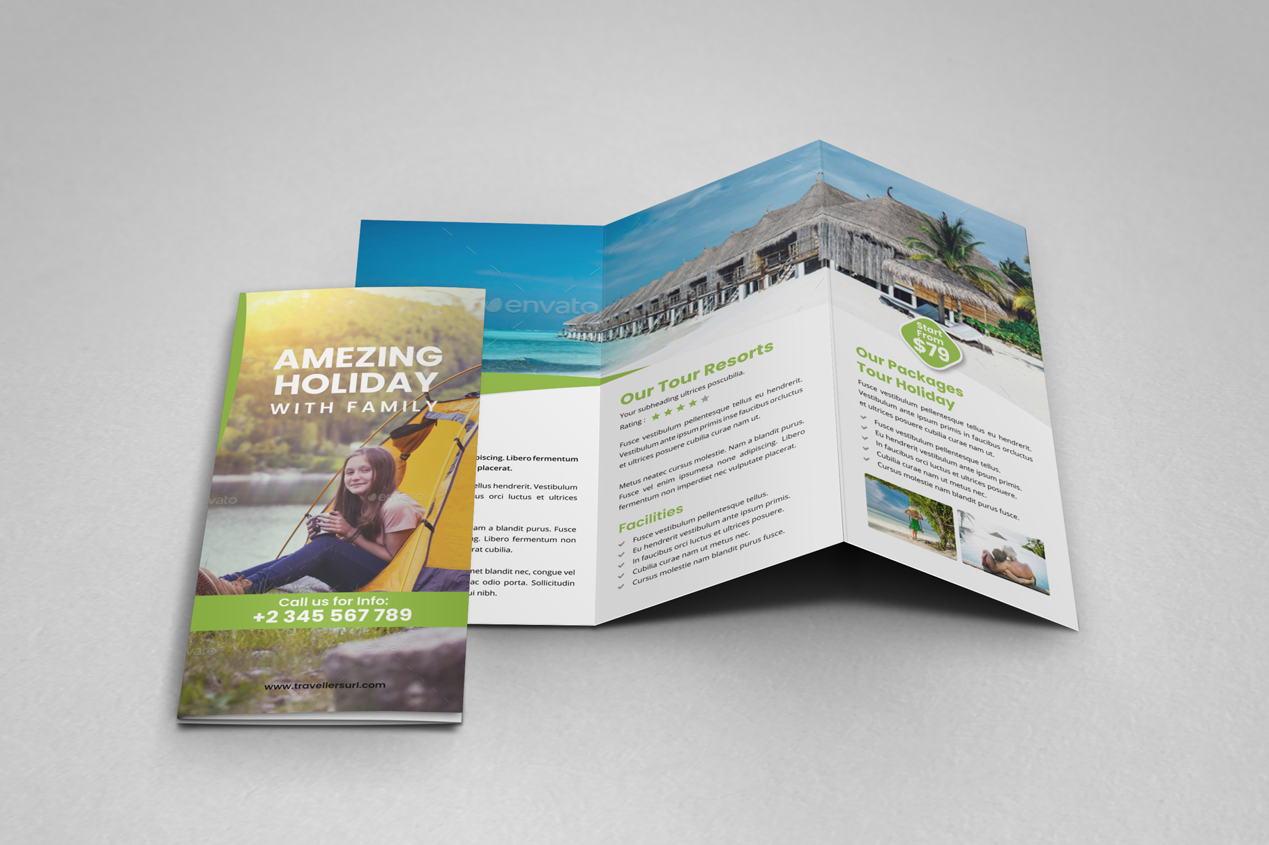 Travel Resort Trifold Brochure v3 example image 13