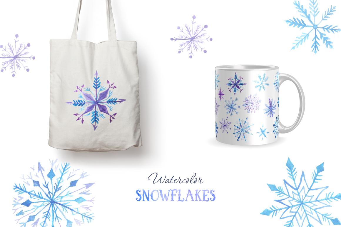 Watercolor Snowflakes Set Vol.2 example image 4