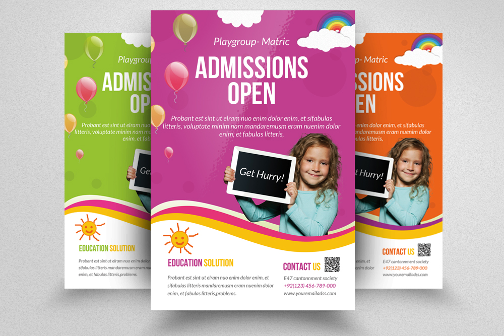 Admission Open Flyer Template