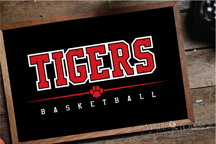 Tigers basketball, tiger mascot, team, PRINT, CUT, DESIGN example image 24