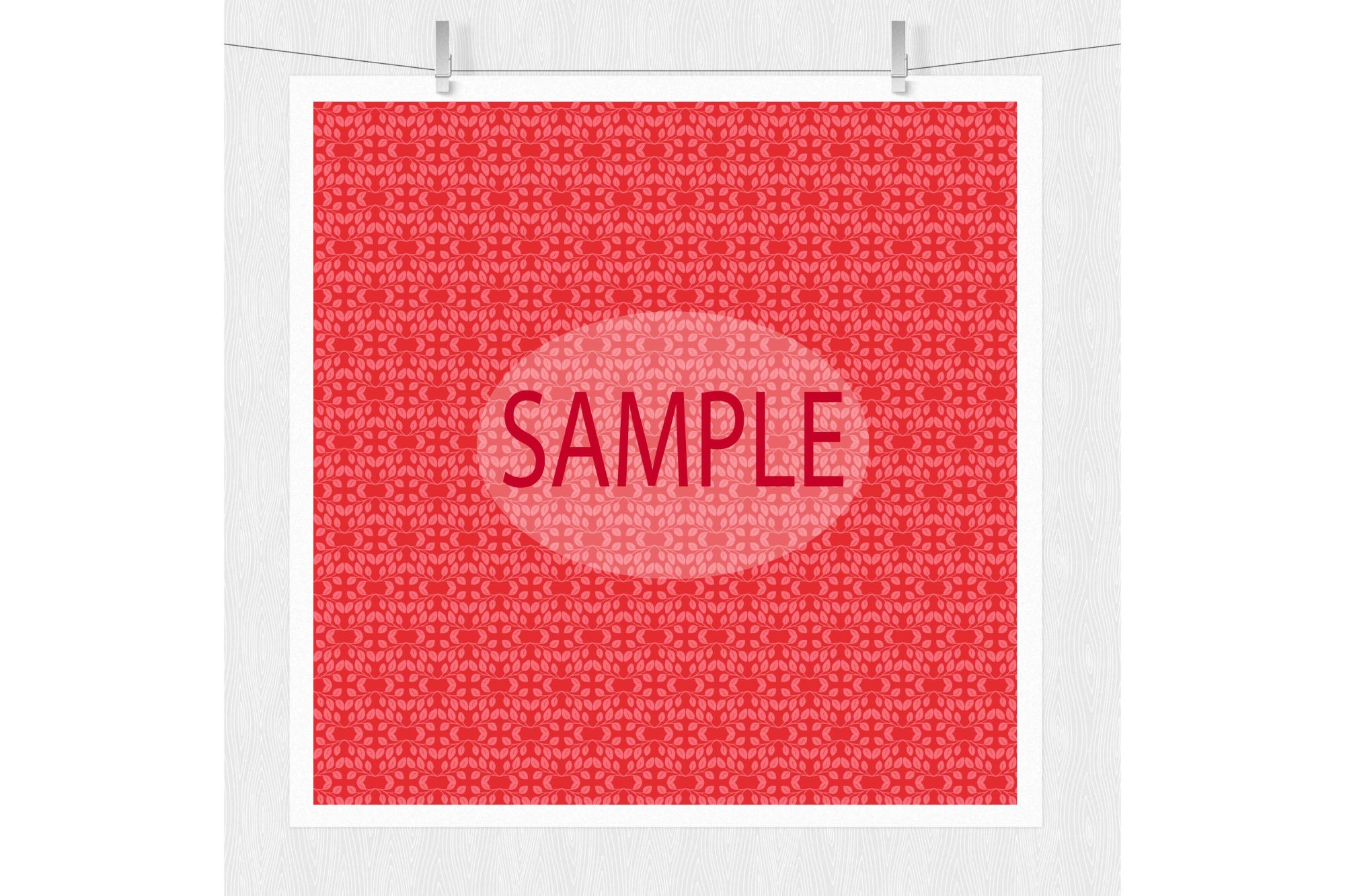 Red Damask Digital Paper example image 2